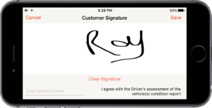 Car Hauler app digital signature