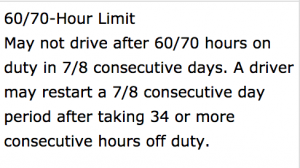 truckers are not allowed to drive more than 70 hours in 8 days FMCSA Super Dispatch ELD mandate